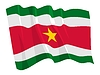 Vector clipart: waving flag of Suriname