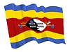 Vector clipart: waving flag of Swaziland