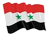 Vector clipart: waving flag of Syria