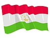 waving flag of Tajikistan