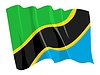 Vector clipart: waving flag of Tanzania