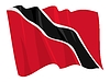 Vector clipart: waving flag of Trinidad and Tobago