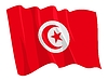 Vector clipart: waving flag of Tunisia