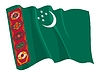 Waving flag of Turkmenistan | Stock Vector Graphics