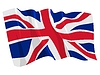 Vector clipart: waving flag of United Kingdom