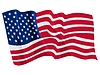 Vector clipart: waving flag of United States