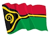 Vector clipart: waving flag of Vanuatu