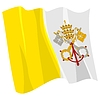 Vector clipart: waving flag of Vatican