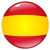 Vector clipart: button in colours of Spain