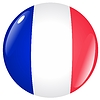 Vector clipart: button in colours of France