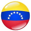 Vector clipart: button in colours of Venezuela