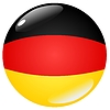 Vector clipart: button in colours of Germany