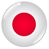 Vector clipart: button in colours of Japan