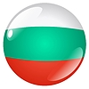 Vector clipart: button in colours of Bulgaria