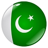 Vector clipart: button in colours of Pakistan