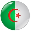 Vector clipart: button in colours of Algeria