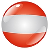 Vector clipart: button in colours of Austria