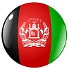 Vector clipart: button in colours of Afghanistan
