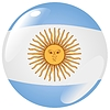 Vector clipart: button in colours of Argentina