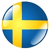 Vector clipart: button in colours of Sweden