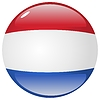 Vector clipart: button in colours of Netherlands