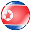 Vector clipart: button in colours of North Korea