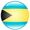 Vector clipart: button in colours of Bahamas