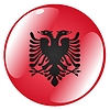 Vector clipart: button in colours of Albania