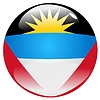 Vector clipart: button in colours of Antigua and Barbuda