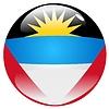 button in colours of Antigua and Barbuda