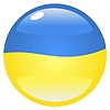 Vector clipart: button in colours of Ukraine