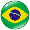 Vector clipart: button in colours of Brazil