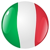 Vector clipart: button in colours of Italy