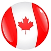 Vector clipart: button in colours of Canada