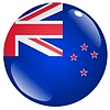 Vector clipart: button in colours of New Zealand