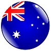Vector clipart: button in colours of Australia