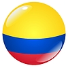 Vector clipart: button in colours of Colombia