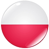 Vector clipart: button in colours of Poland