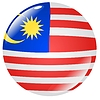 Vector clipart: button in colours of Malaysia