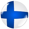 Vector clipart: button in colours of Finland