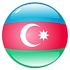 Vector clipart: button in colours of Azerbaijan