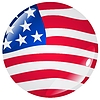 Vector clipart: button in colours of United States