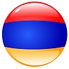 Vector clipart: button in colours of Armenia