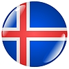 Vector clipart: button in colours of Iceland