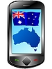 Vector clipart: Connection with Australia