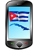 Vector clipart: Connection with Cuba