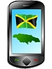 Vector clipart: Connection with Jamaica
