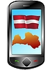 Vector clipart: Connection with Latvia
