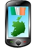 Vector clipart: Connection with Ireland