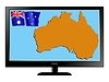 Vector clipart: Australia on TV